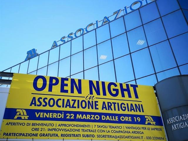 OPEN NIGHT IN ASSOCIAZIONE ARTIGIANI
